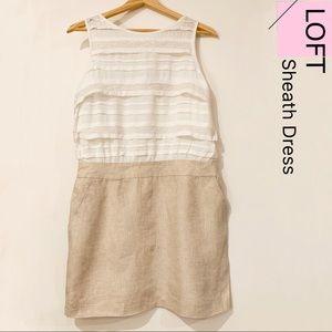 LOFT Sleeveless Sheath Dress Size 8P